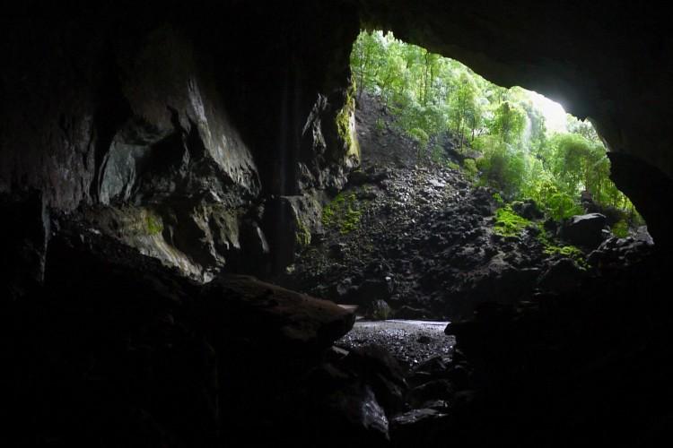 En hule på Borneo