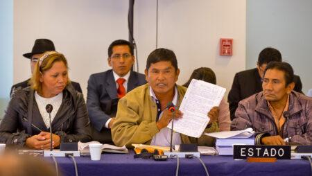 Et indianerterritorium i Bolivia